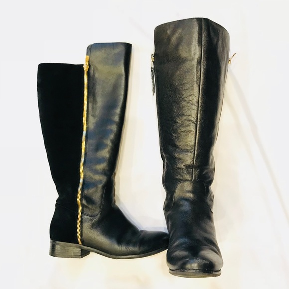 2535248aafe Wide Calf Suede   Leather tall boots